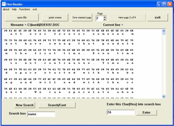 byte reader Screen shot