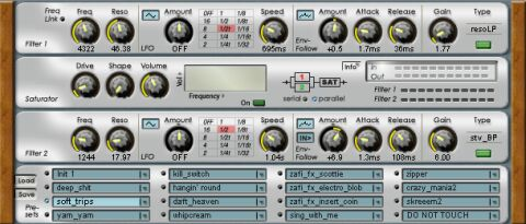 ZapFilter^2 - Dual Filter VST2.0 FX Plugin v1.6 standard (PC) Screen shot