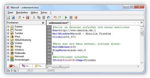 Click to view MacroX (1 - 4 Lizenzen) screenshots