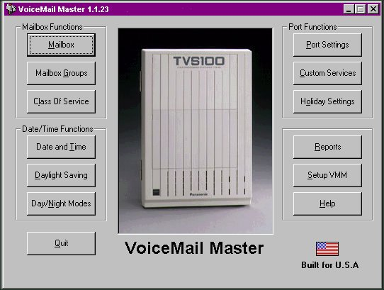 VoiceMail Master for TVS325 Screen shot