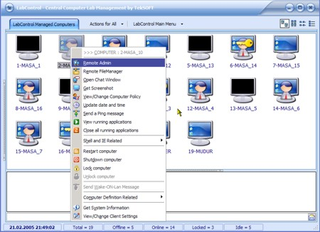 Click to view TekSoft LabControl : 25 computer license screenshots
