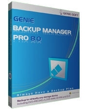 Genie Backup Manager Professional v8.0 Screen shot