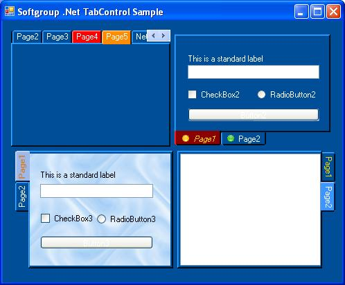 Click to view Softgroup .Net Tab Control screenshots