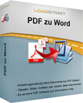 LOADSTREET PDF zu Word Screen shot