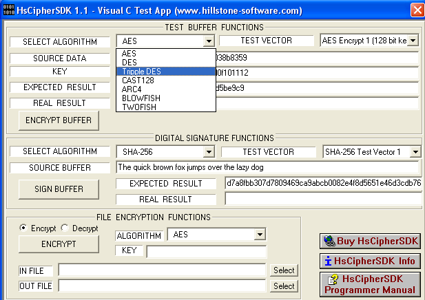 Click to view HsCipherSDK Encryption Library, Company License (no source code) screenshots