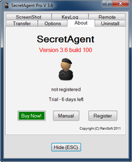 SecretAgent Pro Screen shot
