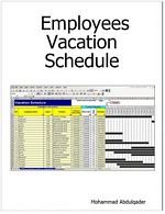 Employees Vacation Scheduler Screen shot