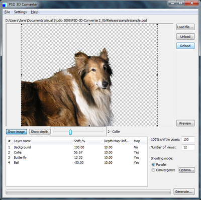 Click to view PSD 3D Converter (free trial) screenshots