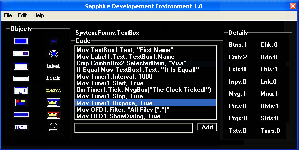 Click to view Sapphire IDE screenshots
