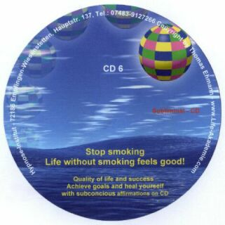 Subliminal mp3 CD 06 Stop smoking Life without smoking feels good Screen shot