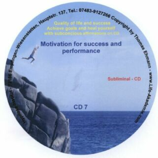 Subliminal mp3 CD 07 Motivation for success and performance Screen shot