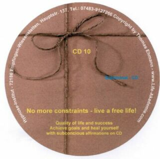 Subliminal mp3 CD 10 No more constraints live a free life! Screen shot