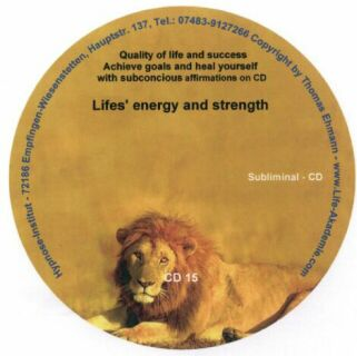Subliminal mp3 CD 15 Lifes' energy and strength Screen shot