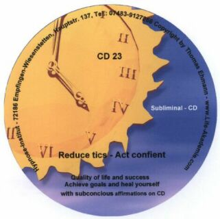 Click to view Subliminal mp3 CD 23 Reduce tics Act confient screenshots