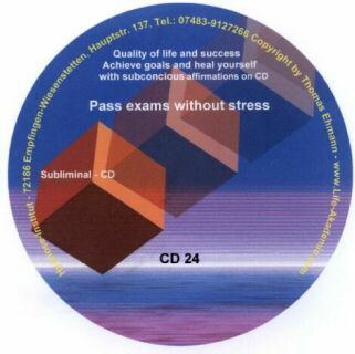 Click to view Subliminal mp3 CD 24 Pass exams without stress screenshots