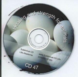 Subliminal mp3 CD 47 Healing and strength for animals Screen shot