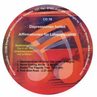 Click to view Subliminal CD - Depressionen lindern - Lebensspa? gewinnen screenshots