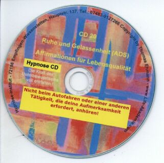 Click to view Hypnose CD - Ruhe und Gelassenheit - ADS screenshots