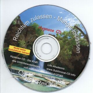 Click to view Hypnose CD - Reichtum zulassen - Mangel loslassen screenshots
