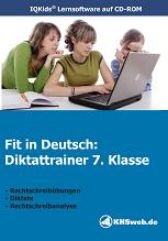 Fit in Deutsch: Diktattrainer 7. Klasse