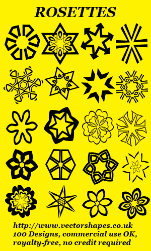 Click to view VS: Rosettes preset shapes for Paint Shop Pro (R) X5 X4 X3 X2 X1 9 8 (002) screenshots