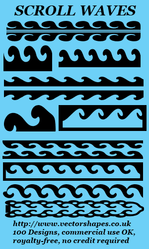 Scroll waves Custom shapes for Photoshop & Elements CSH VS5 Screen shot