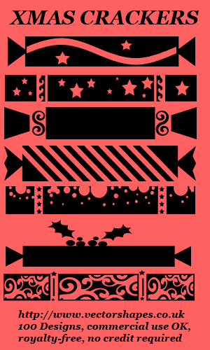 Christmas Crackers preset shapes for Paint Shop Pro X5 X4 X3 X2 X1 9 8 VS8 Screen shot
