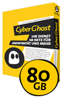 CyberGhost VPN 80 GB Traffic Upgrade