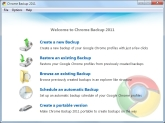 Chrome Backup 2011 Screen shot
