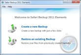 Safari Backup 2011 Elements Screen shot