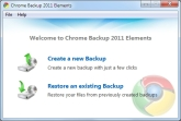 Chrome Backup 2011 Elements Screen shot