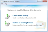 Live Mail Backup 2011 Elements