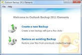Outlook Backup 2011 Elements Screen shot