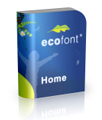Ecofont Home - 1 lifetime license