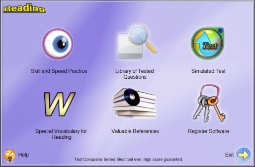 TOEFL iBT Reading Conqueror Screen shot