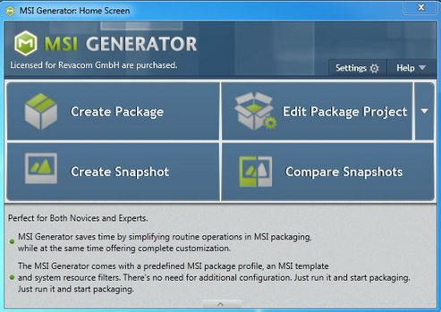 Click to view MSI Generator, 30 days subscription screenshots