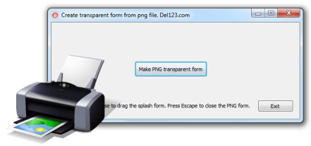 Delphi PNG form example (Source) Screen shot