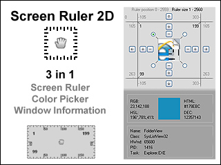 Screen Ruler 2D - Single (1 PC)