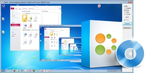 Delphi remote desktop example - using Indy Screen shot
