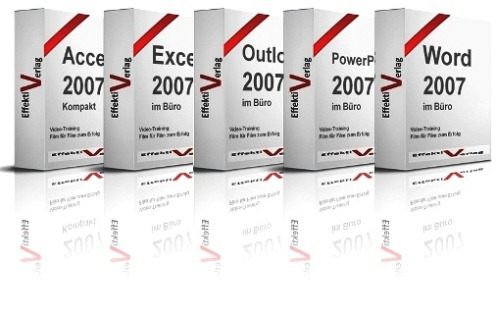 Microsoft Office 2007 im Beruf, Video-Training, mit Access, Excel, Outlook, PowerPoint, Windows 7 und