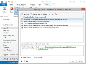 Ablebits.com Outgoing Email Checker for Microsoft Outlook, for installation on Terminal Server