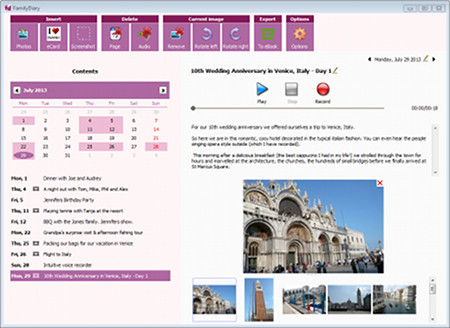 Click to view FamilyDiary Pro Edition screenshots