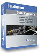DataNumen DWG Recovery Screen shot