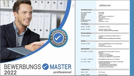 BEWERBUNGSMASTER professional 2015 (inkl. alle Updates 2016) Vollversion unl Screen shot