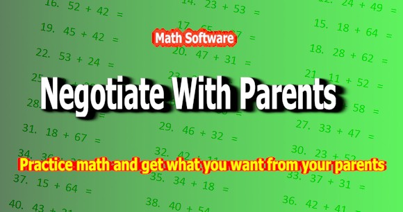 Click to view Math Software - Negotiate With Parents screenshots